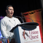 Jordin Tootoo addressing the conference